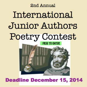 Junior Authors Poetry Contest 2014 Deadline