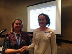 Holly was the the Junior Authors Conference