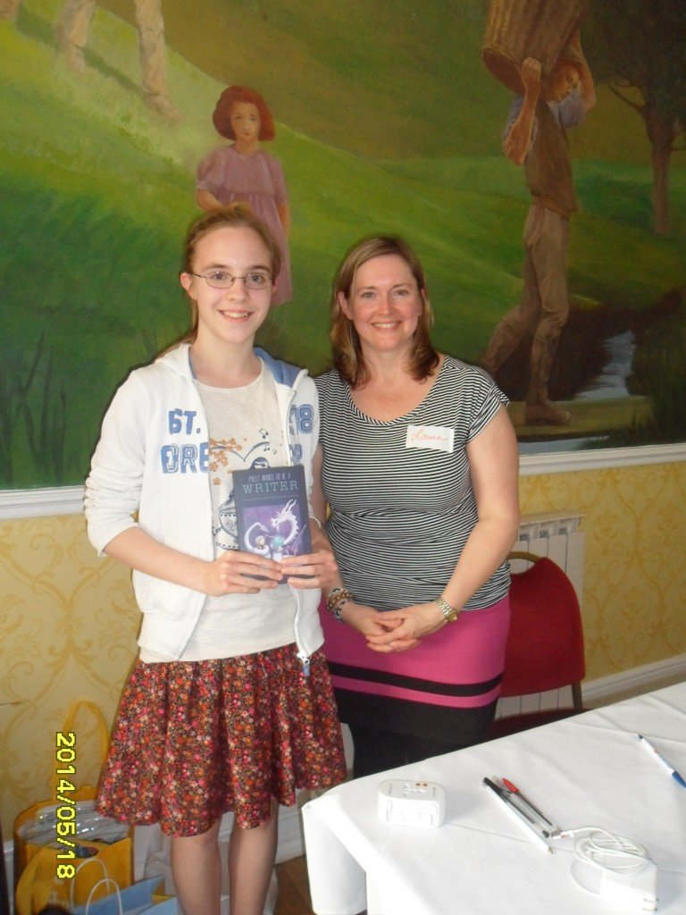 Bethany bought her copy of Polly from me at the Junior Authors Conference in the UK in May 2014